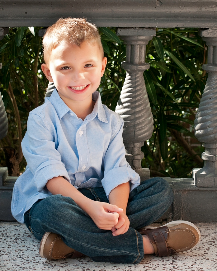 Portrait of Young Boy at Plant Hall at the University of Tampa