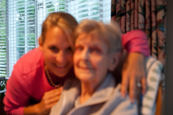 Why to Exist in Images- Grandmother and Granddaughter out of focus